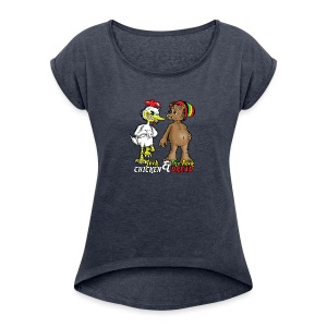Jerk chickenPork Dread - Women's T-shirt with rolled up sleeves