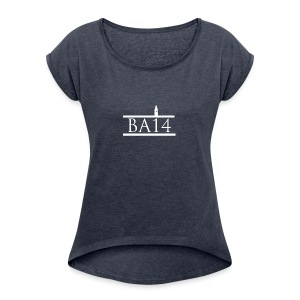 BA14 CLOTHING - Women's T-shirt with rolled up sleeves