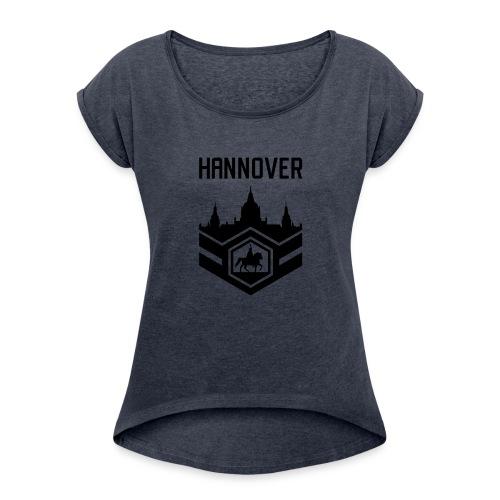 Mission Day Hannover randlos - Frauen T-Shirt mit gerollten Ärmeln