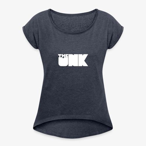 The Unk Wit Zonder Border - Vrouwen T-shirt met opgerolde mouwen