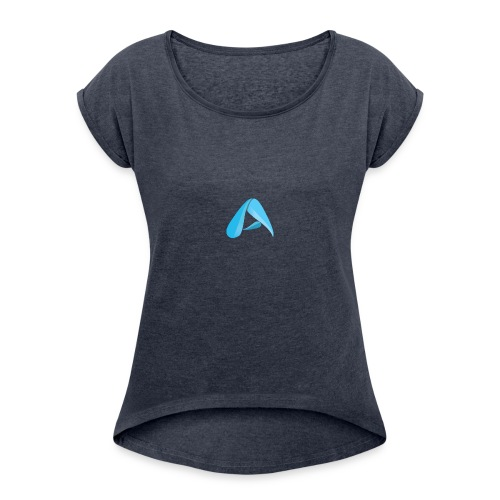 Arctic Logo - Women's T-Shirt with rolled up sleeves