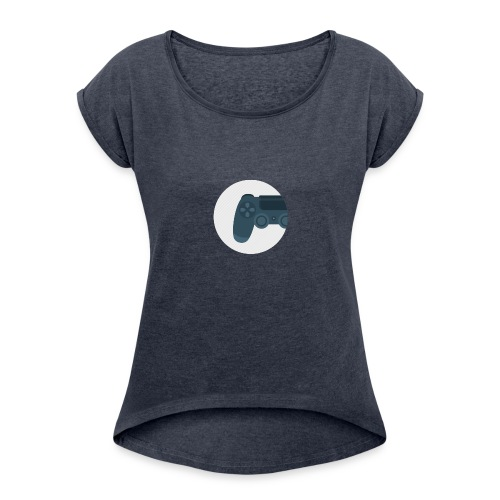 Profilbild - Frauen T-Shirt mit gerollten Ärmeln