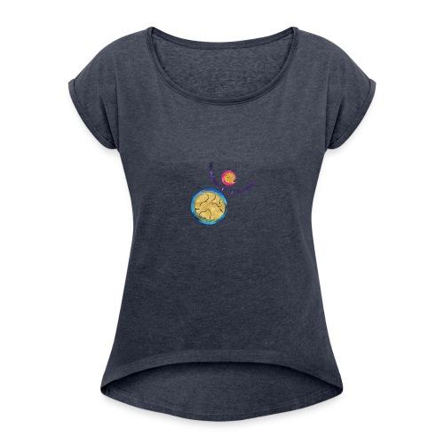 weltrekord - Frauen T-Shirt mit gerollten Ärmeln