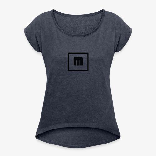 Malecka logo petit - T-shirt à manches retroussées Femme