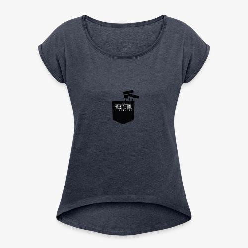 Shaper Pocket - Frauen T-Shirt mit gerollten Ärmeln
