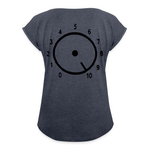 Volym - T-shirt med upprullade ärmar dam