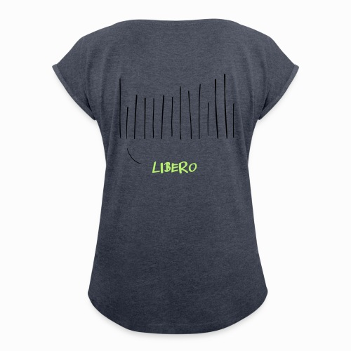 Libero - Frauen T-Shirt mit gerollten Ärmeln