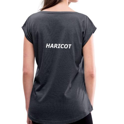 HARICOT ECRIT - T-shirt à manches retroussées Femme