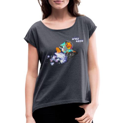 SpaceKaeru - Crapal - T-shirt à manches retroussées Femme