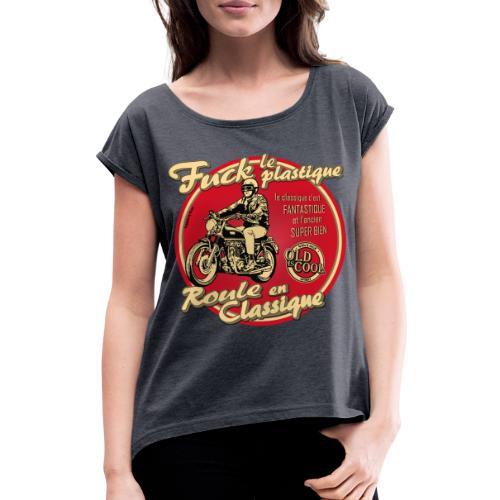 N 181 FUCK - T-shirt à manches retroussées Femme