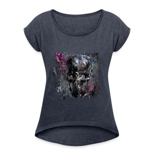 DARK PIVOINE - T-shirt à manches retroussées Femme