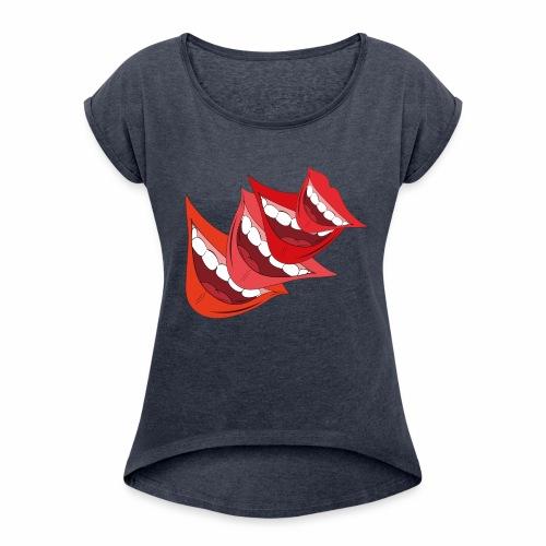 Lachmund - Frauen T-Shirt mit gerollten Ärmeln
