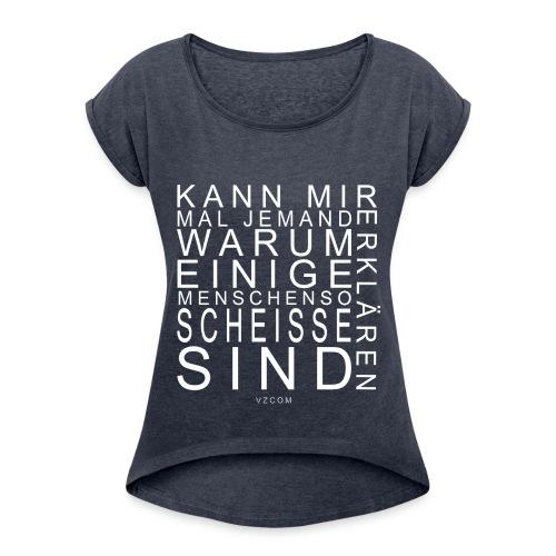 vzcom2 - Frauen T-Shirt mit gerollten Ärmeln