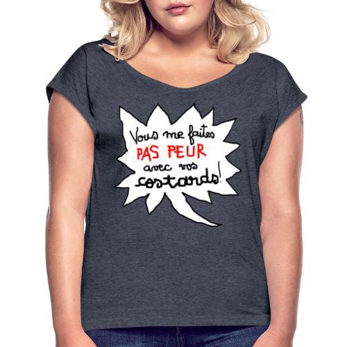 paspeur - T-shirt à manches retroussées Femme