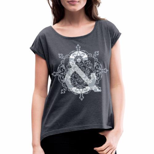 Escudo dark grey & ... - Camiseta con manga enrollada mujer