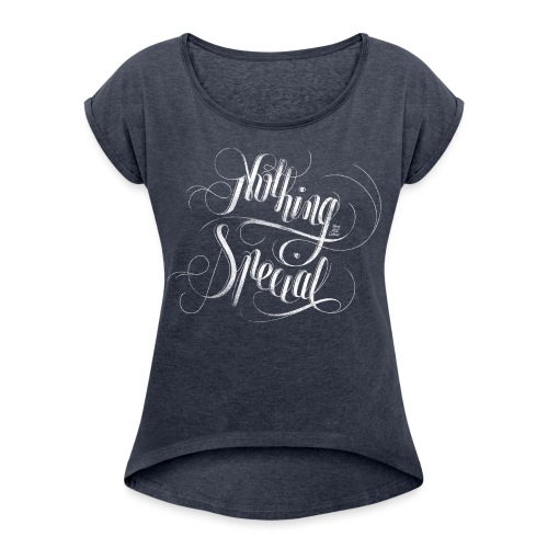 Nothing_white - Women's T-Shirt with rolled up sleeves