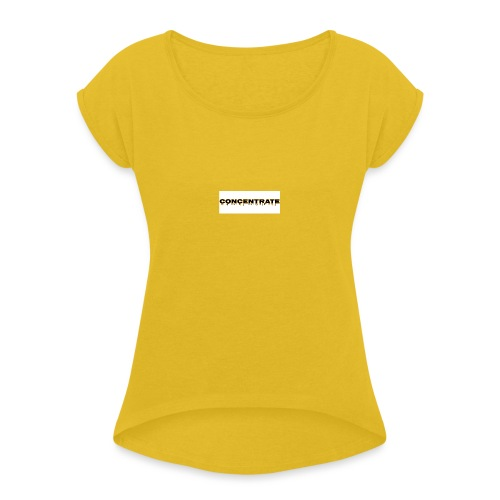 Concentrate on white - Women's T-Shirt with rolled up sleeves