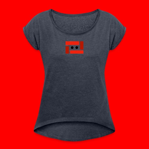 Franck 100% Merch - Vrouwen T-shirt met opgerolde mouwen