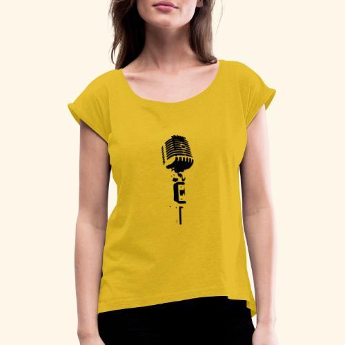 micro - T-shirt à manches retroussées Femme