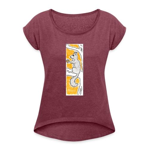 scoiattolo_alma_2015 - Maglietta da donna con risvolti