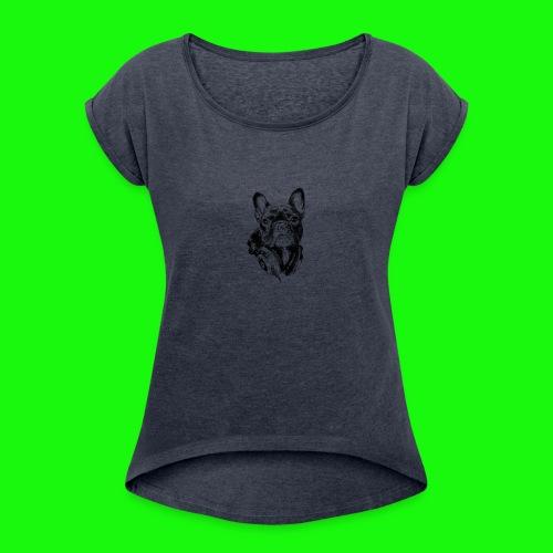 Small_Dog-_-_Bryst_- - Dame T-shirt med rulleærmer