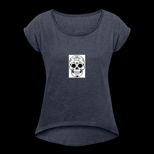 SugarSkull 1 - Women's T-Shirt with rolled up sleeves
