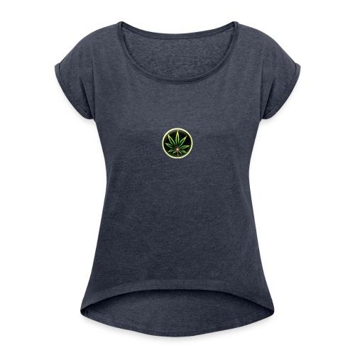 cannabis-vue-densemble - T-shirt à manches retroussées Femme