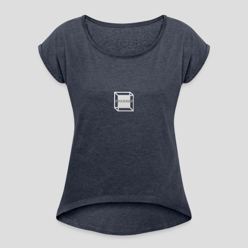 Squared Apparel Logo White / Gray - Women's T-Shirt with rolled up sleeves