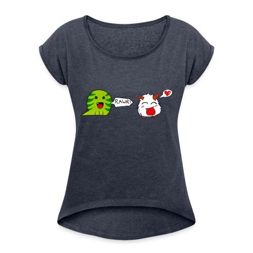 porofinis png - T-shirt à manches retroussées Femme