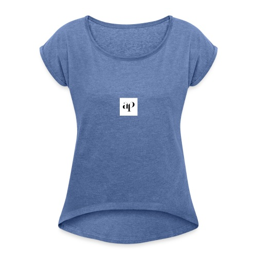 Ap cap - Vrouwen T-shirt met opgerolde mouwen