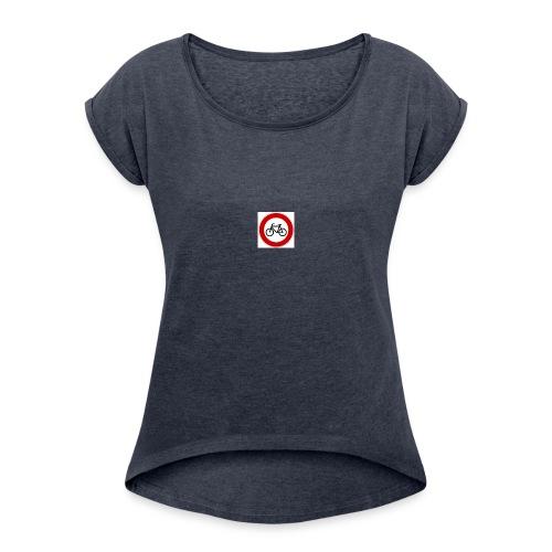 Fahrrad - Frauen T-Shirt mit gerollten Ärmeln