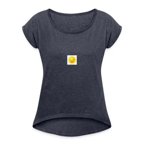 soleil - T-shirt à manches retroussées Femme