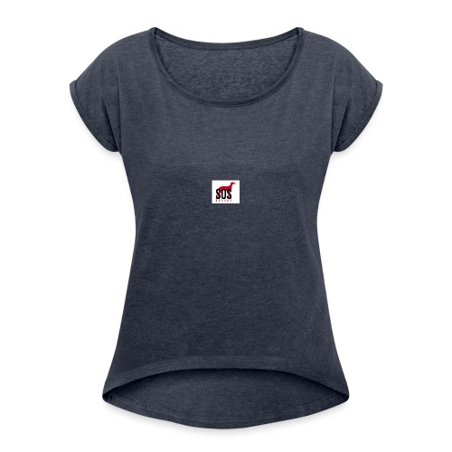 Logo-png - Camiseta con manga enrollada mujer
