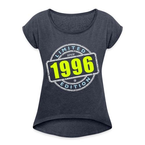 LIMITED EDITION SINCE 1996 - Frauen T-Shirt mit gerollten Ärmeln