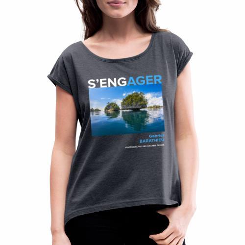 1 Achat = 1 don Fondation - T-shirt à manches retroussées Femme
