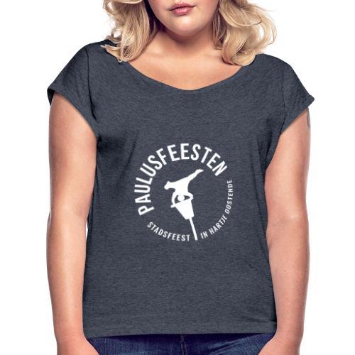 Paulusfeesten BACK - Vrouwen T-shirt met opgerolde mouwen