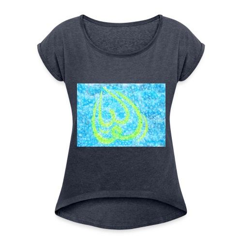 Julia mit persischem Schrift:یولیا - Frauen T-Shirt mit gerollten Ärmeln