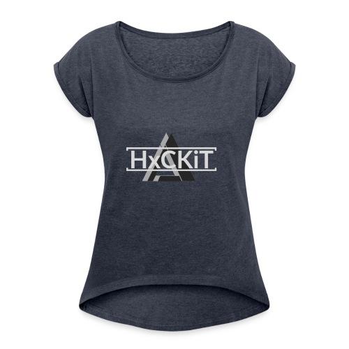 L0G0 - Frauen T-Shirt mit gerollten Ärmeln