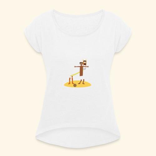 Kokosnoten zijn geen specerijen - Vrouwen T-shirt met opgerolde mouwen