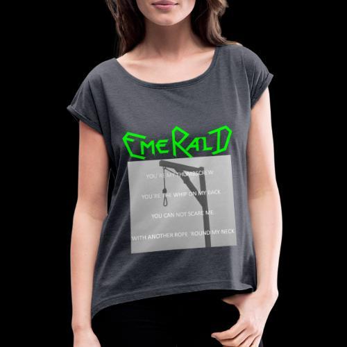 Emerald - Frauen T-Shirt mit gerollten Ärmeln