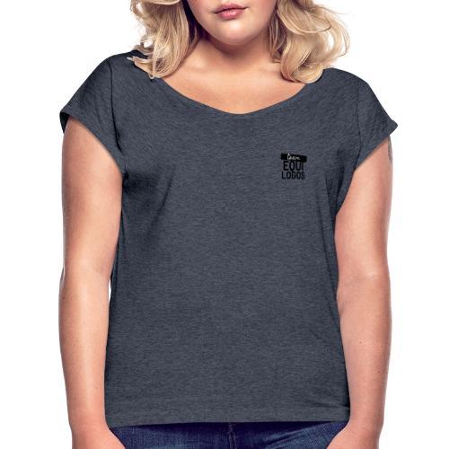Logo noir team equilogo - T-shirt à manches retroussées Femme
