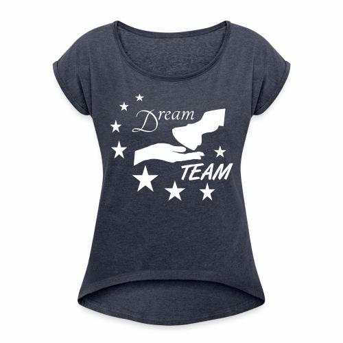 DT2 - Frauen T-Shirt mit gerollten Ärmeln
