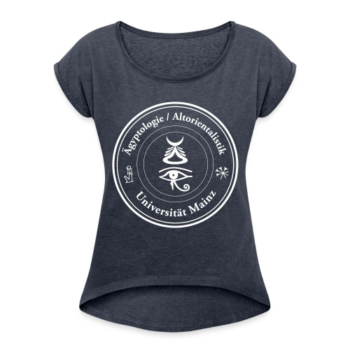 Logo Ägyptologie Altorientalistik - Frauen T-Shirt mit gerollten Ärmeln
