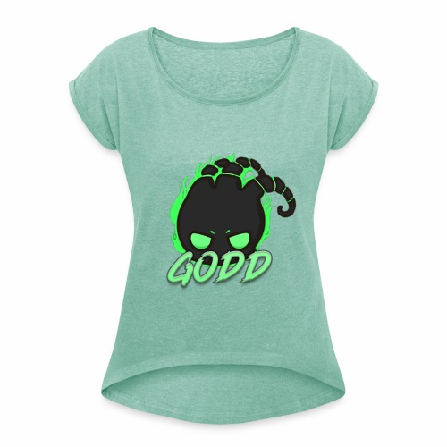 ThreGodd - Women's T-Shirt with rolled up sleeves