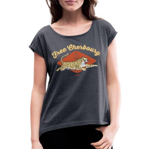 Free Cherbourg - T-shirt à manches retroussées Femme