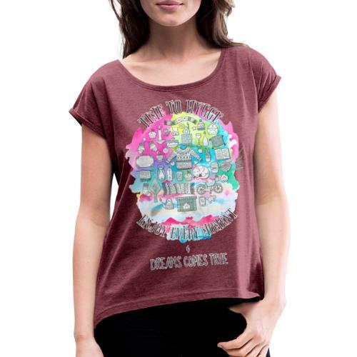 Time to Hygge - T-shirt à manches retroussées Femme