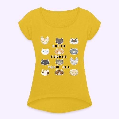 All the Cats - Maglietta da donna con risvolti