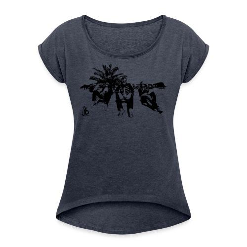 tjb su sw - Frauen T-Shirt mit gerollten Ärmeln