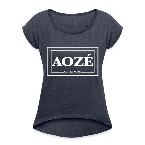 AOZÉ sans fond - T-shirt à manches retroussées Femme