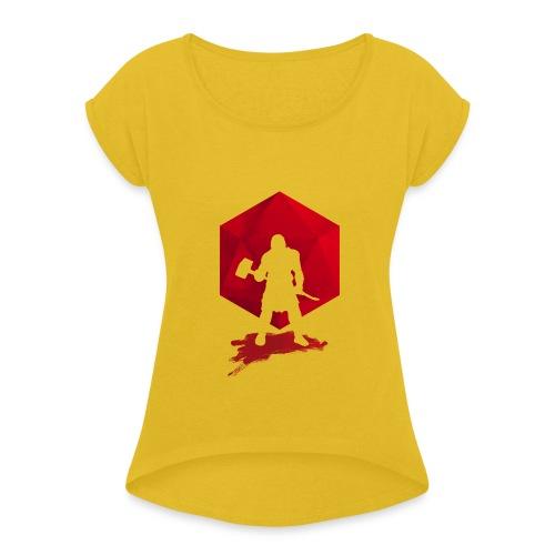 Brutal Barbarian - Dungeons and Dragons dnd d20 - Naisten T-paita, jossa rullatut hihat